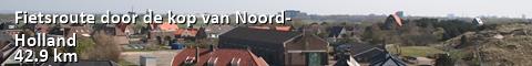 Fietsroute door de kop van Noord-Holland