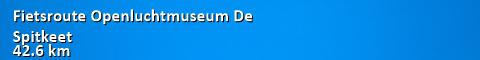 Fietsroute Openluchtmuseum De Spitkeet